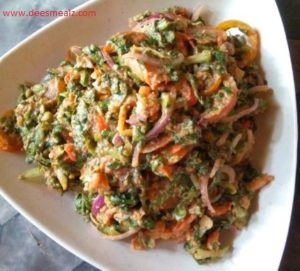 How To Make Nigerian Local Lettuce Salad 1