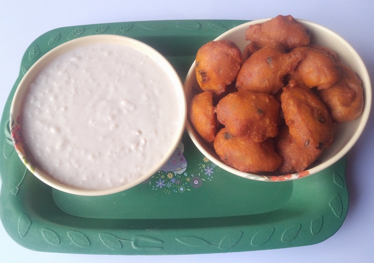 Akara Served with Kunun Gyada