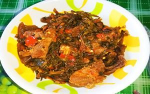 How to Make Vegetable Soup : With Ugu leaves and white Zobo sepals) 1